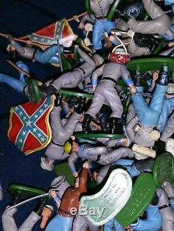 Britains Swoppet, ACW Confederate Infantry 2 lbs. Of parts. Read description