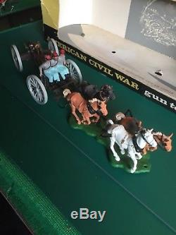 Britains Swoppet Acw Gun Limber And Crew (boxed) With Extra Gun Crew In Vgc