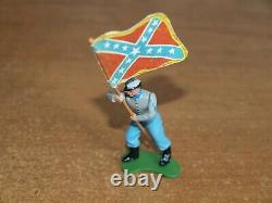 Britains Swoppets, Acw, Confederate Infantry, 1/32, Toy Soldiers, Set Of 9