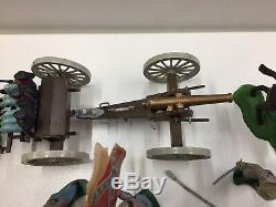 Britains Swoppets American CIVIL War Confederate Gun Team And Limber ++++
