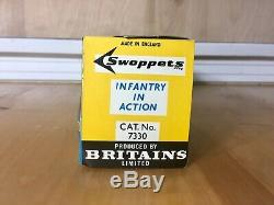Britains Swoppets Infantry in Action Set ON SLIDER CARD, RARE, MINT, OLD STOCK
