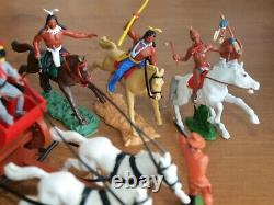 Britains & Timpo, Cowboys And Indians, With Stage Coach, 1/32 Scale Toy Soldiers
