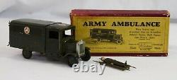 Britains Toy Lead BOXED ARMY AMBULANCE withCasualty + Stretcher Square Front #1512