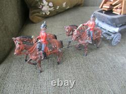 Britains Toy Lead Soldier Horse Drawn Royal Engineers Pontoon Bridge Wagon #203
