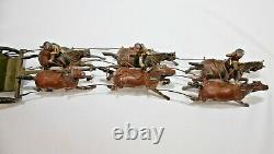 Britains Toy Lead Soldiers KING'S TROOP ROYAL HORSE ARTILLERY. 8 Pieces. #39