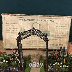 Britains Very Rare Boxed Set 9MG Lead Miniature Garden Display. Pre War c1935