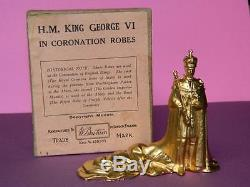 Britains Vintage 1937 Lead King George VI In Coronation Robes #1472 Mint Boxed