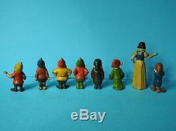 Britains Vintage 1938 Rare Lead Walt Disney Snow White And The 7 Dwarfs Set