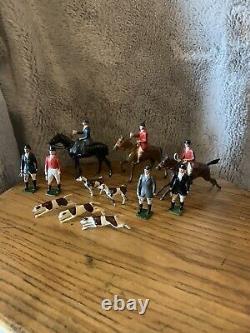 Britains Vintage Lead Hunt Meet Set, Huntsmen/Horses/Hounds
