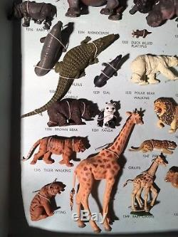 Britains Zoo Very Rare Complete Sample Set 7398 In Excellent Condition