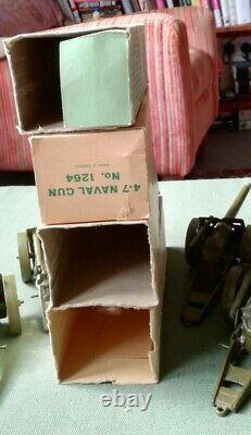 Britainsfour Vintage British Mobile 4.7 Naval Guns (# 1264) In Orig. Boxes