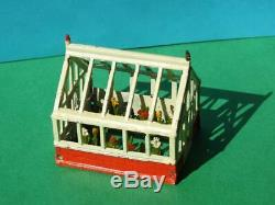 CHERILEA PRODUCTS RARE VINTAGE 1950s BOXED LEAD GREENHOUSE WITH PLANTS