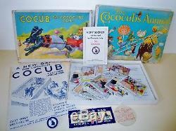 COCOCUBS'COCUB' GAME + ANNUAL + M/SHIP BOOK & BADGE + MORE BRITAINS 1930s RARE