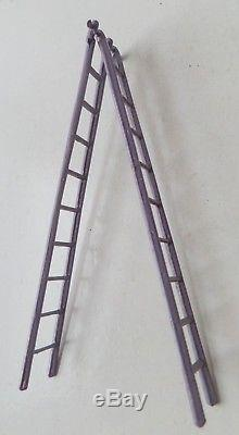 Charbens Pre-war Painted Lead Circus Clown Climbing Rare Purple Ladder + Bucket