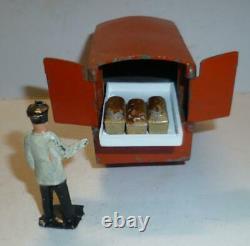 Charbens Vintage Lead Rare Postwar Hovis Bread Electric Hand Cart Set