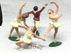 Cherilea Ballet Dancers, 3 Female And One Male (B592)
