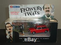Corgi Cc00802 Fawlty Towers Flowery Twats Red Austin 1100 Diecast Model Car