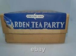 Crescent 54mm hollow-cast lead Garden Tea Party Set