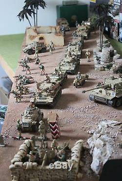 Display Diorama Afrika Korps Desert Base Ak Toy Soldiers King Country Britains