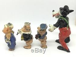 Excella, The Three Little Pigs And The Big Bad Wolf (W 359) Hollow Cast, Exella