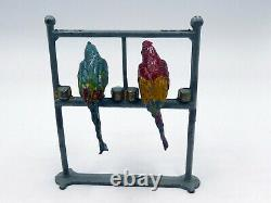 F. G. Tayor & Sons very rare vintage lead circus series 2 parrots on a perch (A4)
