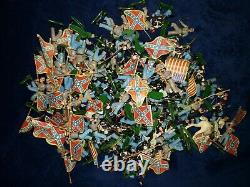 HUGE LOT 120 figures + spare Parts BRITAINS SWOPPET ACW Union / Confederate NICE