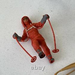 Herald Plastic 54mm Figures Vintage Antarctic Explorers Polar Sledge Team 50s