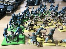 Huge Lot 62 1970s Deetail of Britains LTD War Soldiers Mix Lot See Photos German