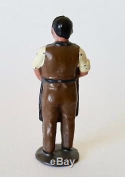 JOHILLCO, MARKET GARDENER with Produce, Rare Pre War HOLLOW-CAST LEAD, Britains