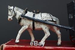 JOHN HILL & Co Pre-war Lead Farm Series #388 CATTLE FLOAT & HORSE Boxed