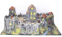 Jean Britains Starlux MEDIEVAL CASTLE For 55mm KNIGHT Figures Plastic PLAYSET NM