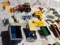 Job Lot Of Britains Farm Tractors And Implements