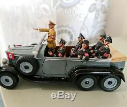 King and Country LAH 40 STAFF CAR WITH GERMAN LEADER AND OCCUPANTS (RETIRED)
