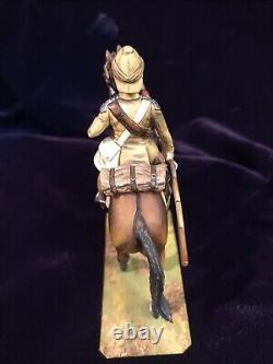 Lasset studio piece Mounted British Lancer Sudan Painted By Jean Abell Stadden