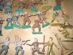 Lot de soldats WWII, au 1/35°, marquesJIM, TIPO, BRITAINS, STARLUX