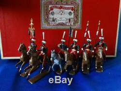 MI-741 6 Mounted Mamelukes (Set 223) Mignot 54mm Metal with Box