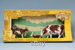 Mega RARE Herald'Zang' #H5536 Ayrshire Cow & Calves Display Carton. Superb.