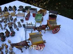 Over 180 pieces of britains and other makes lead farm see pictures and details
