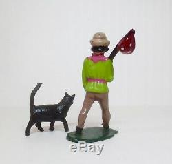 PHILLIP SEGAL Lead Toy Soldier Figure DICK WHITTINGTON AND HIS CAT Britains