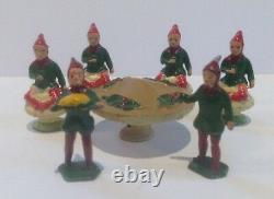 Pixie Tea Party Figures (my Ref Grey 285) By Barrett And Sons