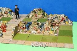 Pre-war Britains Lead Miniature Garden Rockery Huge Layout Lot #2