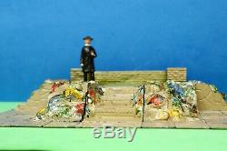 Pre-war Britains Lead Miniature Garden Rockery Large Layout Lot #1