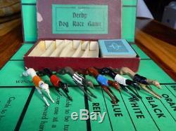 RARE CARDORA DERBY DOG RACE GAME JOHILLCO VINTAGE PREWAR 1930s LEAD GREYHOUNDS