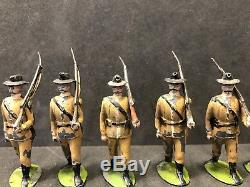 RARE Early Britains Set 26 Boer Infantry. Oval Based Circa 1900