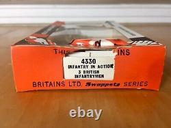 RARE Vintage Britains LTD Vintage Swoppets #4330 Infantry In Action 3 British