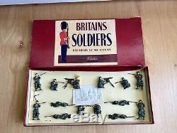 RARE Vintage Britains Soldiers Infantry Of The Line No. 1383 14 Pcs Belgium Army