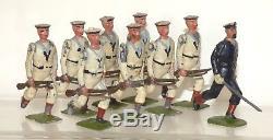 RR23 Britains loose set 80 White Jackets of the Royal Navy. 1910 version 9 pcs