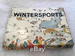 Rare Board Game Containing John hill Speed Skaters WINTERSPORTS
