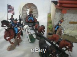 Raro Fortino Fort ROCKY anni 70° Con Soldatini 7° Cavalry Union Britains DSG