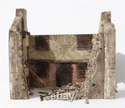 Ruined Building Toy Soldier 1/30 suits King & Country Britains WW2 Napoleonic